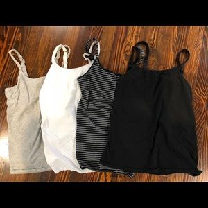Set of 4 Gillian & O'Malley nursing tank tops
